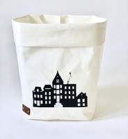 House storage basket, white S-size. ENJOY YOUR LIFE BY DEMI