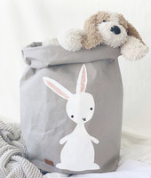 Bunny storage basket, grey XL-size, ENJOY YOUR LIFE BY DEMI