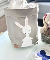 Bunny storage basket, grey M-size, ENJOY YOUR LIFE BY DEMI