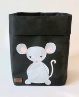 Mouse storage basket, black M-size. ENJOY YOUR LIFE BY DEMI