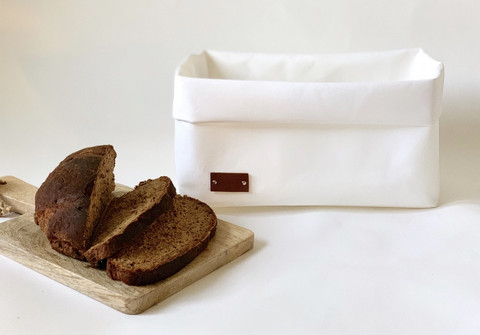 Bread storage basket, white 22x29cm, ENJOY YOUR LIFE BY DEMI