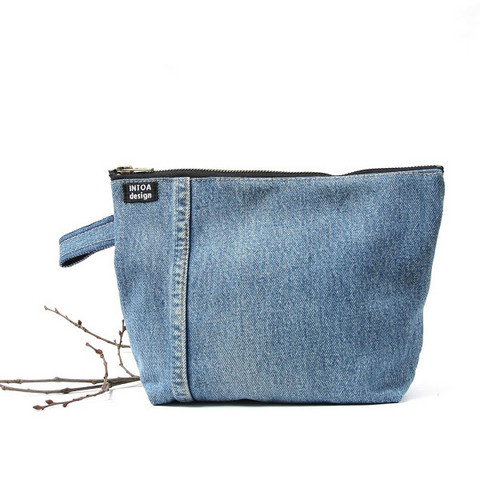 INTOA design Jeans cosmetic bag