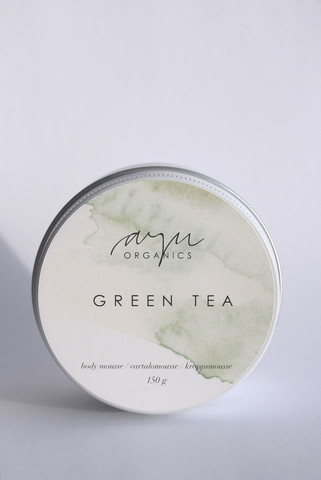 AYU ORGANICS GREEN TEA BODY MOUSSE, 130 G