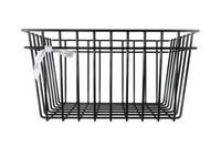 METAL WIRE STORAGE BASKET Black M
