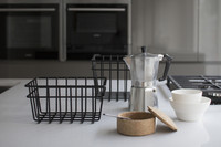 METAL WIRE STORAGE BASKET Black XS