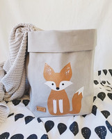 Fox storage basket, grey M-size, ENJOY YOUR LIFE BY DEMI