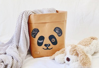 Panda storage basket, brown M-size ENJOY YOUR LIFE BY DEMI