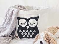 Owl storage basket white 40x33cm ENJOY YOUR LIFE BY DEMI