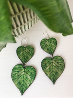 PinjaPuu LEHMUS -earrings, 2 parts