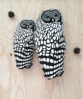design palet OWL -pillow, B/W