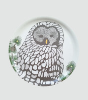 design palet OWL -tray 35cm, nature