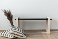 OHTO Nordic Home Design -LUOTO bench, black