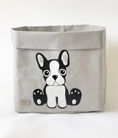 Sweet dog storage basket, grey L-size ENJOY YOUR LIFE BY DEMI