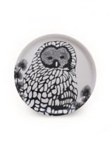 design palet OWL -tray 35cm, black and white