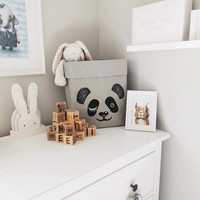 Panda storage basket, grey M-size ENJOY YOUR LIFE BY DEMI