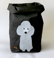 Poodle storage basket, black XL-size, ENJOY YOUR LIFE BY DEMI