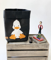Duck storage basket, black S-size. ENJOY YOUR LIFE BY DEMI