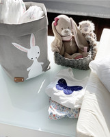 ENJOY YOUR LIFE BY DEMI Bunny storage basket, grey