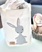 Bunny storage basket, white M-size, ENJOY YOUR LIFE BY DEMI