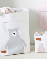 Teddy storage basket, white M-size, ENJOY YOUR LIFE BY DEMI