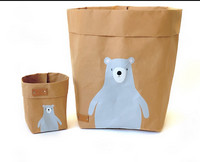 Teddy storage basket, brown M-size. ENJOY YOUR LIFE BY DEMI
