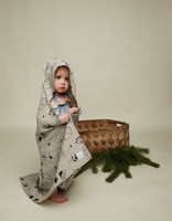 HEMPEA Hooded towel sleepy forest 80x80 cm