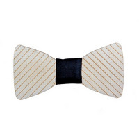 OLEN LOISTAVA Wooden bow + cufflinks, stripe