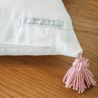 MIMIS LIVING Linen pillow case with pompon