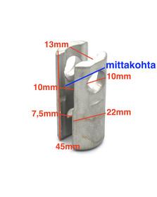 S1 - sylinteripääte läpihahlolla + vapaa pää