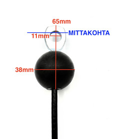 A3 - haarukkapääte + silmukkapääte / pallo -