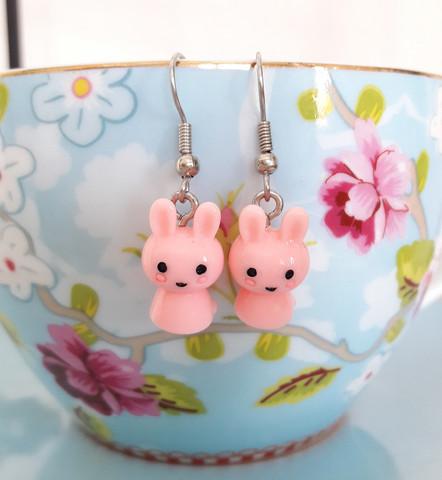 Pupu -korvikset, vaaleanpunaiset