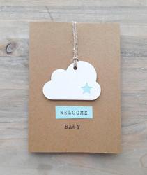 WELCOME BABY -kortti (vaaleansininen)