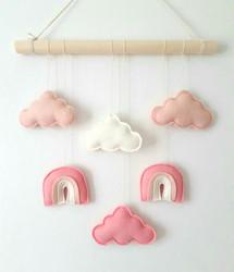 Sateenkaari -seinäkoriste, pinkki