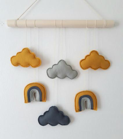 Sateenkaari -seinäkoriste, okra