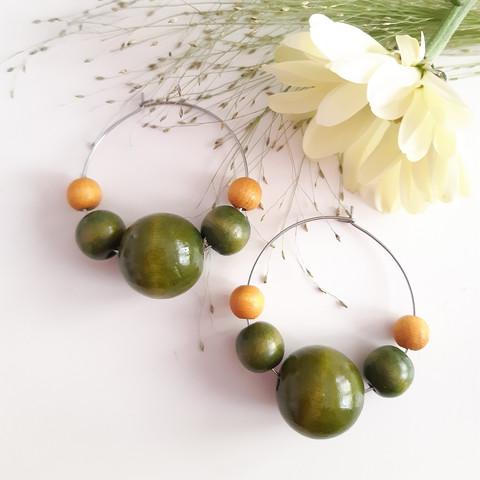Riemu -korvakorut, vihreä
