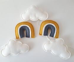 Pilvi/sateenkaari -viiri, okra