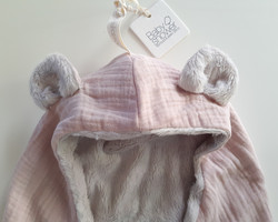 Teddy fleece, peitto -roosa (Babyshower)