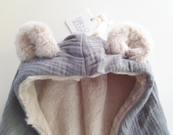 Teddy fleece, peitto -siniharmaa (Babyshower)