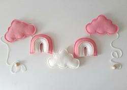 Pilvi/sateenkaari -viiri, pinkki