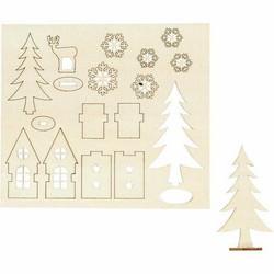 Koottavat puukuviot, Talo, puu ja kauris