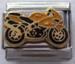 Moottoripyörä, keltainen palakoru