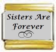 Sisters are forever,  kullanväriset reunat