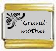 Grandmother, kullanväriset reunat