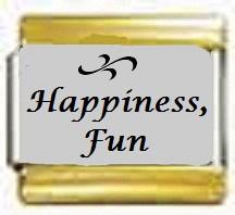 Happiness, Fun kullanväriset reunat