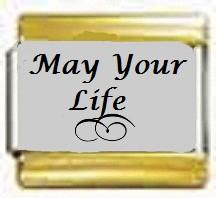 May Your Life, kullanväriset reunat