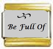 Be Full of, kullanväriset reunat