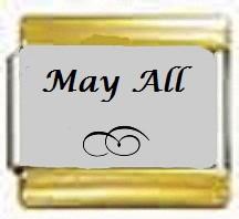 May All, kullanväriset reunat