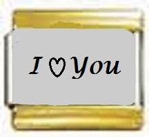 I Love You, kullanväriset reunat