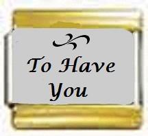 To Have You, kullanväriset reunat