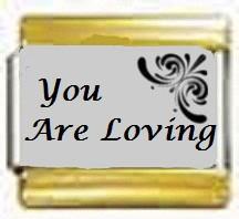You Are Loving, kullanväriset reunat
